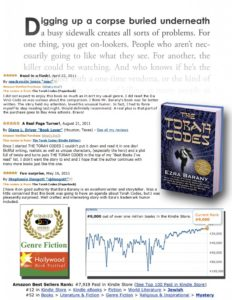 The Torah Codes by Ezra Barany, has been an international bestseller since December 2011