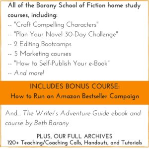 Click here to check out all that you have access to as a group member at Barany School of Fiction!